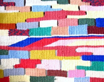 Fotografia de pormenor de uma tapeçaria