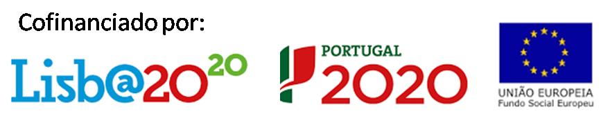Logotipos das entidades co-financiadoras: Portugal202, POR Lisboa2020 e União Europeia