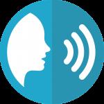 Ícone - Desenho estilizado de uma pessoa a falar