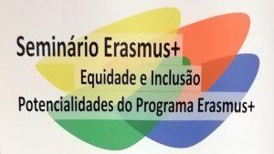 Logotipo do Seminário Erasmus+ Equidade e Inclusão